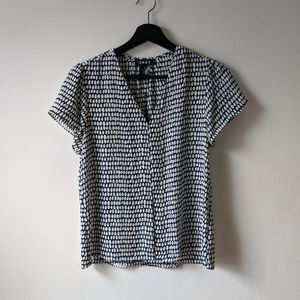 NWT DKNY Dotted Blouse